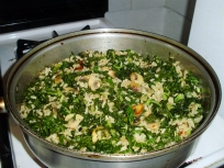 Combine rice and kale